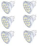 YouOKLight 6PCS MR11 4W Warm White/White 3000K /6000K 350lm 15-SMD5733 LED Spotlight(AC/DC12V)