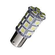 2x hideg fehér 1156 BA15s 27-SMD 5050 LED-izzók mentés fordított 7506 1141