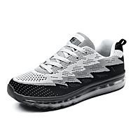 Kényelmes-Lapos-Női cipő-Tornacipők-Szabadidős Alkalmi Sportos-Tüll-Kék Zöld Szürke Tengerészkék