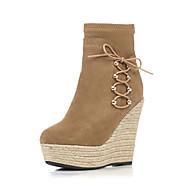 Γυναικεία παπούτσια-Μπότες-Γραφείο & Δουλειά / Φόρεμα / Καθημερινά-Ενιαίο Τακούνι-Ενιαία Σόλα / Στρογγυλή Μύτη / Μοντέρνες Μπότες-Σουέτ /
