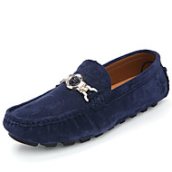 Men's Loafers & Slip-Ons Spring / Summer Moccasin / Comfort Cowhide Casual l Slip-on Blue / Yellow / Gray Walking