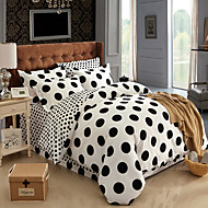 Yuxin®Thick Brushed Cotton Twill  4 Piece Linen Quilt Bedding Kit   Bedding Set