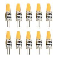 6 G4 LED Bi-pin 조명 T 1 COB 450 lm 따뜻한 화이트 / 차가운 화이트 장식 AC 12 V 10개