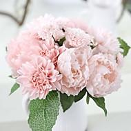 1 1 Větev Polyester Pivoňky Květina na stůl Umělé květiny 11.8*3.5*3.5(inch)