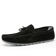 Lapos-Lapos-Női cipő-Papucsok & Balerinacipők-Esküvői / Irodai / Alkalmi / Party és Estélyi-Disznóbőr-Fekete / Narancssárga / Khaki