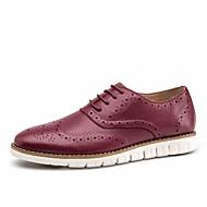 Men's Shoes Casual Suede leather shoes carving design fashion Round Toe Men shoes male Dress Shoes