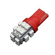 10 x T10 W5W 2825 192 194 168 501158 červená 20smd vedl boční klín žárovka 12V DC