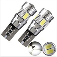 2pcs HRY® T10 White LED CANBUS 6SMD 5630 Projector Solid Aluminum Bulbs Side Marker Parking Light