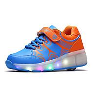 Tenisky-PU-Boty s kolečky Light Up boty-Dívčí-Černá Modrá Růžová-Outdoor Běžné Atletika-Platformy