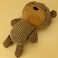 Zabawka dla kota Zabawka dla psa Zabawki dla zwierząt Zabawki Pluszowe Zabawki piszczące Pisk Yellow Brown