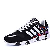 Kényelmes-Lapos-Női cipő-Tornacipők-Alkalmi-Szövet-Fekete Kék