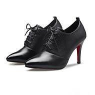Women's Boots Fall / Winter Bootie PU / Microfibre Dress / Casual Stiletto Heel pBlack / Red Walking