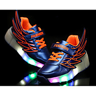 LED's Shoes Girl's Flats Summer Roller Skate Shoes PU Casual Flat Heel LED Black / Royal Blue / Fuchsia / Orange Others