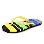 Unisex Sandals Summer Sandals Fabric Casual Flat Heel Others Blue / Brown / Yellow / Green / Pink / Royal Blue Others