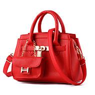 Women's Fashion Casual PU Leather Messenger Shoulder Bag/Handbag Tote