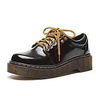נשים-נעלי ספורט-דמוי עור-קריפרס-שחור-שטח / קז'ואל-פלטפורמה