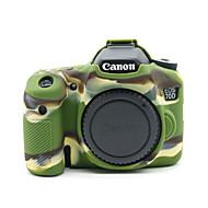 dengpin® puha szilikon páncél bőr gumi kamera tok táska Canon EOS 70D (vegyes színek)