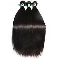 3 Dele Rett Human Hair vævninger Brasiliansk hår Human Hair vævninger Rett