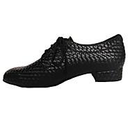 Na míru-Pánské-Taneční boty-Moderní / Swing-Koženka-Nízký podpatek-Černá / Modrá / Šedá / Jiná