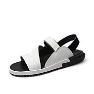 Alkalmi-Férfi cipő-Szandálok-Bőr-Fekete / Fehér