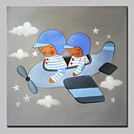 Hand Painted Modern Cartoon Oil Paintings On Canvas Wall Art Picture With Stretched Frame Ready To Hang 80x80cm