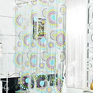 וילון אמבטיה וילון פרחוני עבה עמיד למים PEVA מקלחת מודרני קלאסי עם ווים
