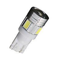 10X Xenon White T10 Side Wedge SAMSUNG 5630 6SMD LED License Map Light W5W 2825