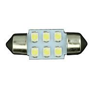 2ks bílá třicet jedna mm 6-SMD podražcový dome mapa vnitřní LED osvětlení lampy de3175 3022