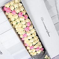Natal Party Favors & Gifts-1Peça/Conjunto Presentes Fitas Material Amigo do Ambiente Tema rústico Cubóide PersonalizadoChampanhe / Rosa /