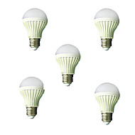 5pcs HRY® 5W E27 2835SMD Cool White Sound & Light Control Lamp LED Smart Bulbs(220-240V)