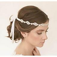 נשים בד כיסוי ראש-חתונה סרטי ראש חלק 1 לבן עגול 48cm