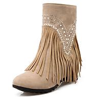 Γυναικεία παπούτσια-Μπότες-Φόρεμα Καθημερινό Πάρτι & Βραδινή Έξοδος-Ενιαίο Τακούνι-Μοντέρνες Μπότες-Φλις Γκλίτερ-Μαύρο Καφέ Κίτρινο