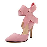 Women's Heels Spring / Summer / Fall Heels Suede Party & Evening / Dress Stiletto Heel Bowknot  Walking