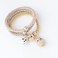 Bracelet Charm Bracelet Alloy Owl Fashion Jewelry Gift Gold / Silver,1set