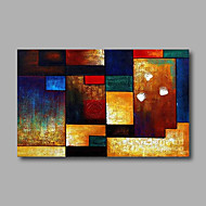 Stretched (Ready to hang) Hand-Painted Oil Painting 90cmx60cm Canvas Wall Art Modern Abstract Blue Orange