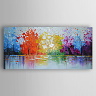 Oil Painting Impression Landscape by Knife Hand Painted Canvas with Stretched Framed Ready to Hang