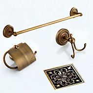 Bathroom Accessory Set / Towel Bar / Toilet Paper Holder / Robe Hook / Drain / Towel Warmer / Antique Bronze