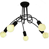Chandelier ,  Modern/Contemporary Painting Feature for Candle Style Metal Living Room Bedroom Dining Room