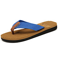 Men's Slippers & Flip-Flops Summer Canvas Outdoor Flat Heel Braided Strap Blue Green Red Upstream shoes