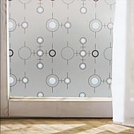 okenní fólie Okno obtisků stylu černé a bílé kruh matný PVC okenní fólie - (100 x 45) cm