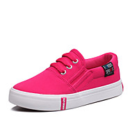 Girls' Shoes Outdoor / Athletic / Casual Canvas Flats Spring / Round Toe / Flats Flat Heel Others / Gore / Slip-on