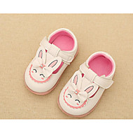 Girl's Sandals Spring / Fall Sandals Synthetic Outdoor Flat Heel Animal Print Pink / Red / White Walking