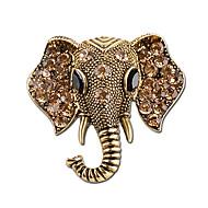 bijoux de mode bohème éléphant cristal Broches mode féminine