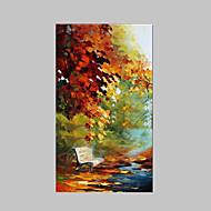מצויר ביד L ו-scape ציורי שמן,סגנון / מודרני / קלאסי / מסורתי / ריאליסטי / ים- תיכוני / פסטורלי / סגנון ארופאי פנל אחד בדציור שמן