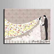 e-home® personlig fingeravtrykk maleri lerret utskrifter -the bruden og kost (inkluderer 12 blekkfarger)
