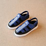 Sandaler-Mikrofiber-Sandaler-Unisex-Sort / Blå / Hvid-Hverdag-Flad hæl