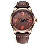 OCHSTIN Men's Genuine Leather Strap Sport Wrist Watches Dual Calendar Display  Waterproof Luminous Hands Watch