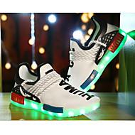 Sneakers-Tyl-Komfort Light Up Sko-Drenge-Sort Hvid-Sport-Flad hæl