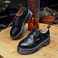 נשים-נעלי אוקספורד-עור-נוחות-שחור-קז'ואל-עקב שטוח