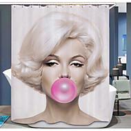 מודרני תערובת פולי / כותנה 1.8*1.8m  -  איכות גבוהה וילונות מקלחת